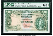 New Zealand Reserve Bank of New Zealand 10 Pounds ND (1956-60) Pick 161c PMG Choice Uncirculated 63 EPQ.   HID09801242017  © 2020 Heritage Auctions | ...