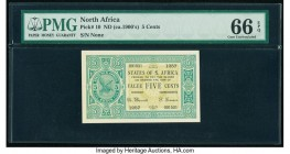 North Africa States of North Africa 5 Cents ND (ca. 1900s) Pick 10 PMG Gem Uncirculated 66 EPQ. This note may have been prepared for what was envision...