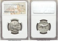 MACEDONIAN KINGDOM. Alexander III the Great (336-323 BC). AR tetradrachm (26mm, 2h). NGC XF. Late lifetime-early posthumous issue of Aradus, ca. 328-3...