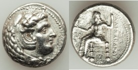 MACEDONIAN KINGDOM. Alexander III the Great (336-323 BC). AR tetradrachm (25mm, 16.73 gm, 11h). Choice XF, brushed. Late lifetime or early posthumous ...