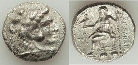 MACEDONIAN KINGDOM. Alexander III the Great (336-323 BC). AR tetradrachm (25mm, 16.54 gm, 10h). Choice XF, porosity. Early posthumous issue of Tyre, d...