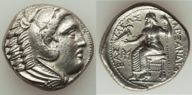 MACEDONIAN KINGDOM. Alexander III the Great (336-323 BC). AR tetradrachm (25mm, 16.65 gm, 6h). Choice XF, flan flaw. Early posthumous issue of 'Amphip...