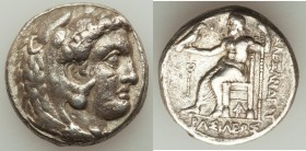 MACEDONIAN KINGDOM. Alexander III the Great (336-323 BC). AR tetradrachm (25mm, 16.93 gm, 11h). VF. Late lifetime-early posthumous issue of Aradus, ca...
