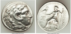 MACEDONIAN KINGDOM. Alexander III the Great (336-323 BC). AR tetradrachm (29mm, 16.86 gm, 12h). XF. Early posthumous issue of Miletus, 300-295 BC. Hea...