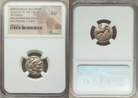 MACEDONIAN KINGDOM. Alexander III the Great (336-323 BC). AR drachm (17mm, 7h). NGC AU. Posthumous issue of Lampsacus, ca. 310-301 BC. Head of Heracle...