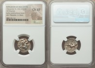 MACEDONIAN KINGDOM. Alexander III the Great (336-323 BC). AR drachm (18mm, 2h). NGC Choice XF. Posthumous issue of Abydus, ca. 310-301 BC. Head of Her...