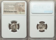 MACEDONIAN KINGDOM. Alexander III the Great (336-323 BC). AR drachm (18mm, 12h). NGC Choice XF. Early posthumous issue of 'Colophon', ca. 323-319 BC. ...