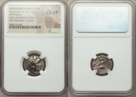 MACEDONIAN KINGDOM. Alexander III the Great (336-323 BC). AR drachm (17mm, 12h). NGC Choice VF. Posthumous issue of 'Colophon', ca. 310-301 BC. Head o...