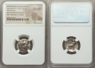 MACEDONIAN KINGDOM. Alexander III the Great (336-323 BC). AR drachm (17mm, 12h). NGC Choice VF. Posthumous issue of Pamphylia, Side, ca. 323-317 BC. H...