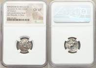 MACEDONIAN KINGDOM. Alexander III the Great (336-323 BC). AR drachm (17mm, 11h). NGC Choice VF. Posthumous issue of 'Colophon', ca. 319-310 BC. Head o...