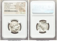 ATTICA. Athens. Ca. 440-404 BC. AR tetradrachm (25mm, 17.22 gm, 10h). NGC MS 5/5 - 4/5, die shift. Mid-mass coinage issue. Head of Athena right, weari...