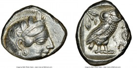 ATTICA. Athens. Ca. 440-404 BC. AR tetradrachm (23mm, 16.69 gm, 9h). NGC XF 2/5 - 4/5. Mid-mass coinage issue. Head of Athena right, wearing crested A...