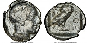 ATTICA. Athens. Ca. 440-404 BC. AR tetradrachm (26mm, 17.11 gm, 9h). NGC Choice VF 5/5 - 3/5. Mid-mass coinage issue. Head of Athena right, wearing cr...