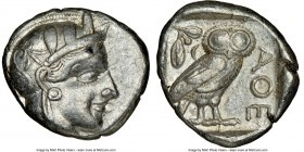 ATTICA. Athens. Ca. 440-404 BC. AR tetradrachm (24mm, 17.19 gm, 4h). NGC Choice VF 4/5 - 4/5. Mid-mass coinage issue. Head of Athena right, wearing cr...