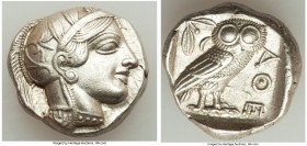 ATTICA. Athens. Ca. 440-404 BC. AR tetradrachm (24mm, 17.19 gm, 5h). Choice XF. Mid-mass coinage issue. Head of Athena right, wearing crested Attic he...