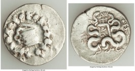 MYSIA. Pergamum. Roman Rule (ca. 133-67 BC). AR cistophorus (28mm, 12.33 gm, 12h). Fine. Cista mystica with serpent; all within ivy wreath / Bow in bo...
