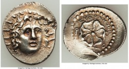 CARIAN ISLANDS. Rhodes. Ca. 84-30 BC. AR drachm (22mm, 4.14 gm, 4h). AU, scuffs. Euphranor, magistrate. Radiate head of Helios facing, turned slightly...
