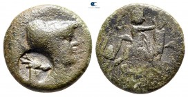 Kings of Macedon. Uncertain mint. Antigonos II Gonatas 277-239 BC. c/m: head of stag. Bronze Æ