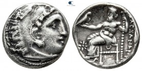 "Kings of Macedon. Kolophon. Alexander III ""the Great"" 336-323 BC. struck under Philip III 323-319 AD. Drachm AR"