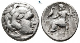 "Kings of Macedon. Teos. Alexander III ""the Great"" 336-323 BC. Struck circa 323-319 BC. Drachm AR"