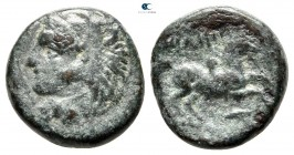 Kings of Macedon. Uncertain mint. Philip II of Macedon 359-336 BC. Half Unit Æ