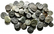 Lot of ca. 75 greek bronze coins / SOLD AS SEEN, NO RETURN!