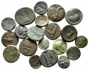 Lot of ca. 20 greek bronze coins / SOLD AS SEEN, NO RETURN!
