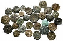 Lot of ca. 30 greek bronze coins / SOLD AS SEEN, NO RETURN!