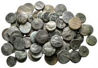 Lot of ca. 70 greek bronze coins / SOLD AS SEEN, NO RETURN!nearly very fine