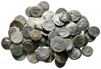 Lot of ca. 65 greek bronze coins / SOLD AS SEEN, NO RETURN!nearly very fine