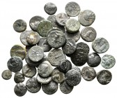 Lot of ca. 46 greek bronze coins / SOLD AS SEEN, NO RETURN!very fine