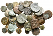 Lot of ca. 40 greek bronze coins / SOLD AS SEEN, NO RETURN!nearly very fine