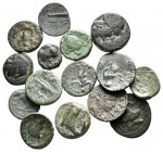 Lot of ca. 15 greek bronze coins / SOLD AS SEEN, NO RETURN!very fine