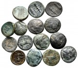 Lot of ca. 15 greek bronze coins / SOLD AS SEEN, NO RETURN!