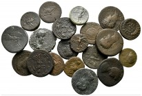 Lot of ca. 20 roman provincial bronze coins / SOLD AS SEEN, NO RETURN!very fine