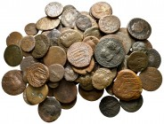 Lot of ca. 88 roman provincial bronze coins / SOLD AS SEEN, NO RETURN!nearly very fine