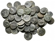 Lot of ca. 65 roman provincial bronze coins / SOLD AS SEEN, NO RETURN!nearly very fine
