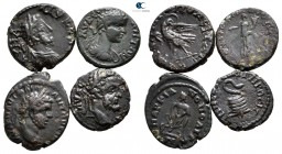 Lot of ca. 4 roman provincial bronze coins / SOLD AS SEEN, NO RETURN!very fine