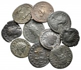 Lot of ca. 10 roman bronze coins / SOLD AS SEEN, NO RETURN!very fine