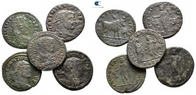 Lot of ca. 5 roman bronze coins / SOLD AS SEEN, NO RETURN!very fine
