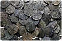 Lot of ca. 100 late roman bronze coins / SOLD AS SEEN, NO RETURN!