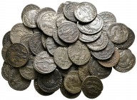 Lot of ca. 50 late roman bronze coins / SOLD AS SEEN, NO RETURN!