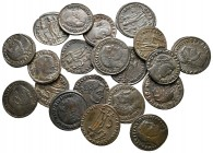 Lot of ca. 20 late roman bronze coins / SOLD AS SEEN, NO RETURN!