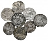 Lot of ca. 8 medieval silver coins / SOLD AS SEEN, NO RETURN!very fine