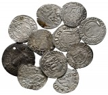 Lot of ca. 11 medieval silver coins / SOLD AS SEEN, NO RETURN!very fine