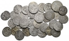 Lot of ca. 35 medieval silver coins / SOLD AS SEEN, NO RETURN!very fine