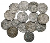Lot of ca. 15 medieval silver coins / SOLD AS SEEN, NO RETURN!very fine