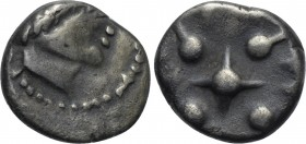 "CENTRAL EUROPE. Noricum. Obol (Late 2nd century BC). ""Eis"" type."