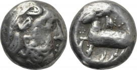 "EASTERN EUROPE. Imitations of Philip II of Macedon (2nd-1st centuries BC). Tetradrachm. Mint in Serbia. ""Eselohr"" type."