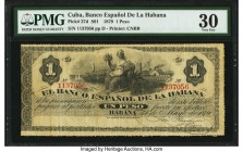 Cuba Banco Espanol de la Habana 1 Peso 1879 Pick 27d PMG Very Fine 30. From the El Don Diego Luna Collection  HID09801242017  © 2020 Heritage Auctions...